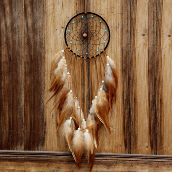 2017 nou disign decor acasă dream catcher circulară pene agățat de perete decor masina dreamcatcher ornament cadou